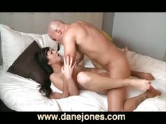 Lesbian gets first taste of cock