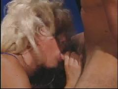 Old blond chick gets ass eat out and dug out