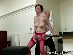 Stockings mature brit amateur