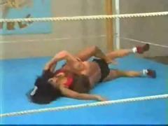 Elsa vs mike mixed ring wrestling