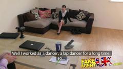 Fakeagentuk lap dancer goes hardcore in fake casting