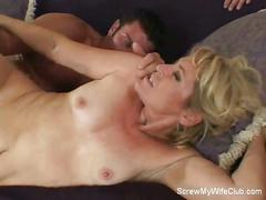 Husband watches milf wife fucked by stud
