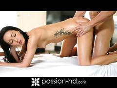 Brunette sabrina banks gets massaged and fucked
