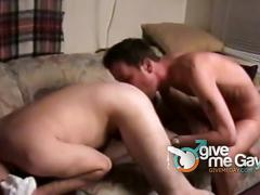 Hot dads fucking after stimulating jerking