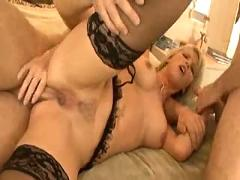 Hot milf double teamed