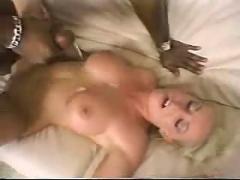 Blonde fucks big black dick