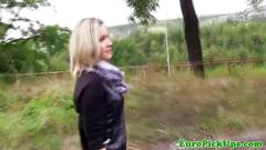 Real czech babe picked up and groped in public