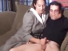 Stp3 mom gives him a punishment wank !