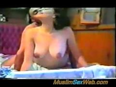 Young egyptian married couple fucking on cam