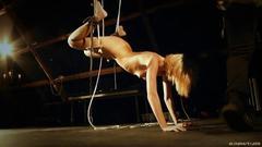Harsh bllowjob in bondage for kinky bdsm fantasy