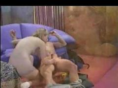 Retro anal on the couch