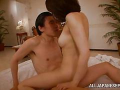 Japanese milf loves to ride her man's cock