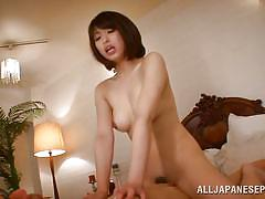 milf, japanese, blowjob, censored, black hair, cock riding, on bed, jp milfs, all japanese pass, shoko akiyama