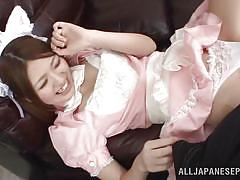 Kitty cat maid gets fingered