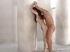 Misaki gets fucked between two pillars