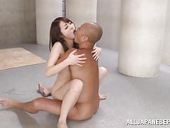 Misaki gets fucked between two pillars