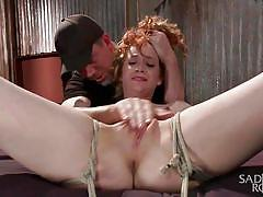 Redhead slut learns to spread wide