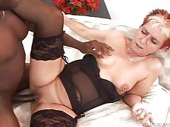 granny, black, interracial, blowjob, piercing, bbc, cum in ass, black stockings, granny ghetto, fame digital, jana b x