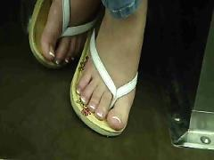 Bbw on train sexy french pedi