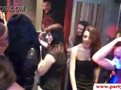Sexy euro party amateurs fucking on the dancefloor