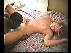 Blonde white girl with black guy - amateur interracial homemade (p.1of2)