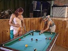 Erika angel hewitt threesome on the pool table part 1