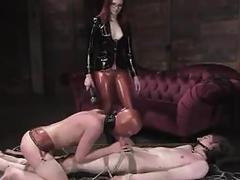 Mistress with slaves