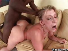 Busty milf drains a big black cock