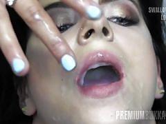 Elya #2 swallowing big loads