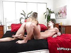 milf, blonde, pissing, lesbians, babe, dildo, piss drinking, piss fetish, vipissy, bianca ferrero, claudia macc