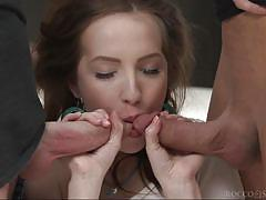 threesome, handjob, babe, big cock, deepthroat, pussy licking, fingering, mmf, rocco siffredi, fame digital, ricky mancini, stirling cooper, lina mercury