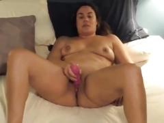 Mommy has a dildo in her ass and a cock in her pussy