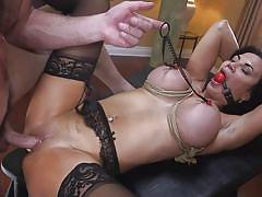 milf, bdsm, big tits, big cock, vibrator, pierced pussy, ball gag, nipple clamps, rope bondage, sex and submission, kink, charles dera, jasmine jae