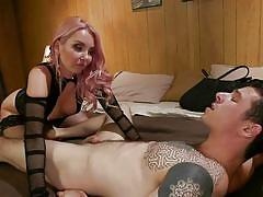 small tits, milf, femdom, mistress, strap on, small cock, tattooed, cock torture, anal penetration, clothespins, divine bitches, kink, aaliyah love, corbin dallas