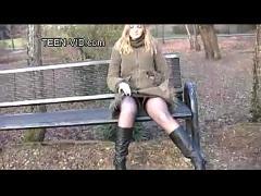 Blond teen britney sexy casting