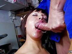 Sexy alina rose bounces on a fat prick