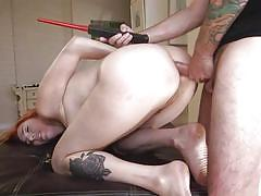 Naughty redhead wife getting fucked hard