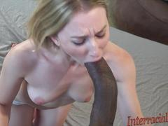Sucking 12 inch black cock compilation