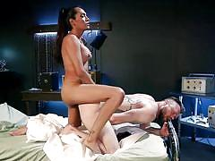 Tranny lover playing with shemale cock and ass