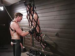 ass fingering, bdsm, cock torture, torture, handjob, whipping, rope bondage, big cock, anal, clothes pins, bound gods, kink men, tony orlando, pierce paris