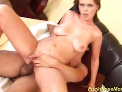 Busty milf gets rough fucked