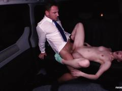 Fucked in traffic - cute czech redhead loves dirty car sex