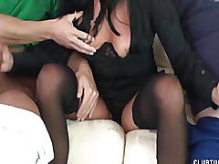 Nice double mature handjob