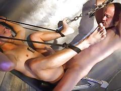 bdsm, fucking machine, cock torture, handjob, rope bondage, anal, prison, double anal, chains, bound gods, kink men, d. arclyte, nate grimes