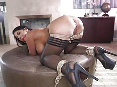 anal, bdsm, big ass, big tits, babe, from behind, black hair, ball gag, rope bondage, electric vibrator, sex and submission, kink, tommy pistol, raven hart