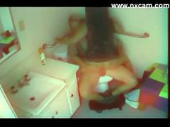 Hidden cam bathroom sex