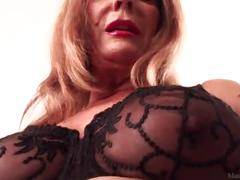 Slutty mature blonde rae hart prefers posing and playing with her sissy