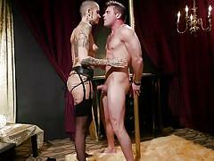 femdom, bdsm, submissive, punishment, stockings, foot worship, tattooed, sex slave, divine bitches, kink, lance hart, leigh raven