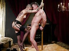 The submissive guy will be humiliated and punished
