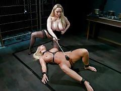 milf, facesitting, blonde, bdsm, lesbians, big tits, dildo, pussy licking, lezdom, slapping, device bondage, whipped ass, kink, aiden starr, london river